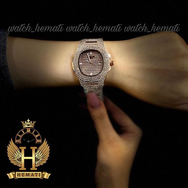 خرید انلاین ساعت پتک فیلیپ نگین دار مدل ناتیلوس به رنگ رزگلد