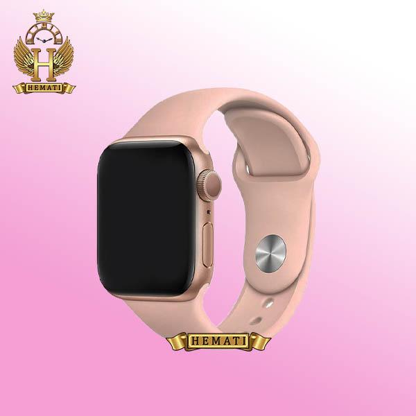 خرید ، قیمت ، مشخصات ساعت هوشمند W28 Plus 2021 new قاب رزگلد با بند صورتی