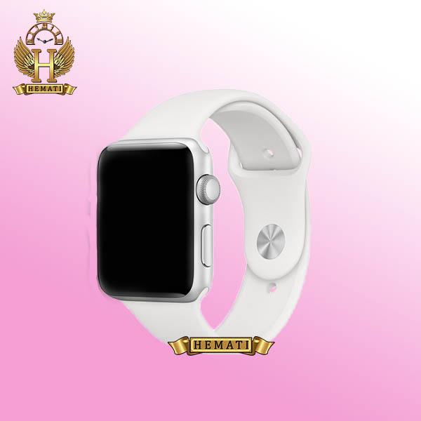 خرید اینترنتی ساعت هوشمند W28 Plus 2021 new قاب نقره ای با بند سفید