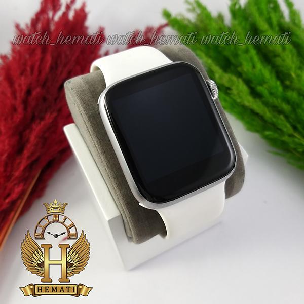 خرید انلاین ساعت هوشمند W28 Plus 2021 new قاب نقره ای با بند سفید