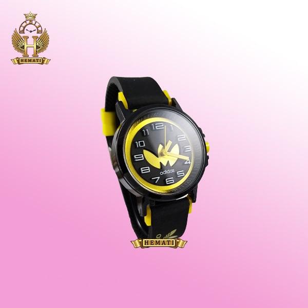 ساعت آدیداس اسپرت پسرانه و دخترانه مشکی و زرد