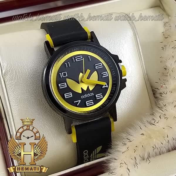خرید ، قیمت ، مشخصات ساعت آدیداس اسپرت پسرانه و دخترانه مشکی و زرد