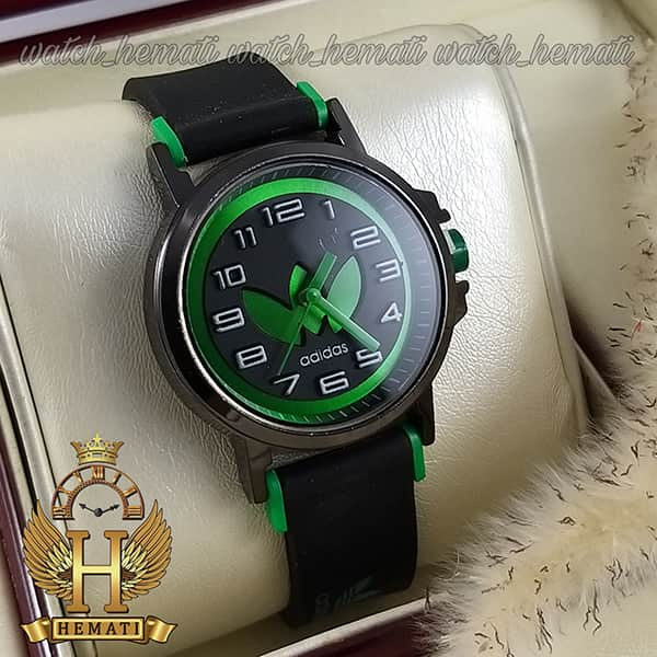خرید ، قیمت ، مشخصات ساعت آدیداس اسپرت پسرانه و دخترانه مشکی و سبز