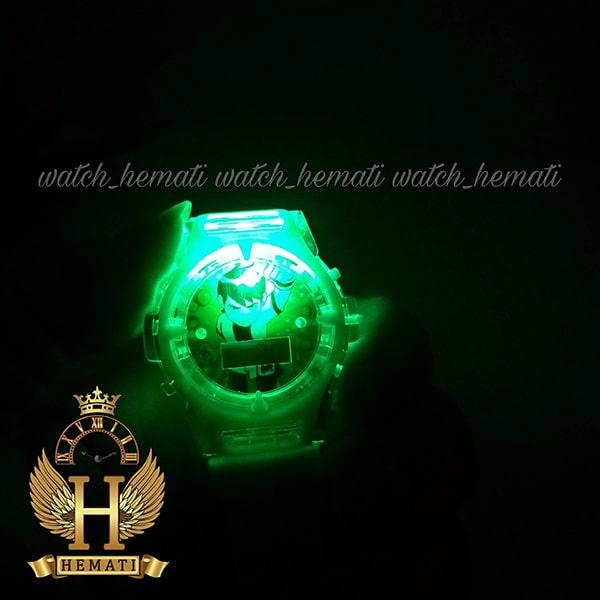 مشخصات ساعت پسرانه بن تن کامپیوتری موزیکال چراغدار ch200 سبز