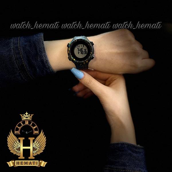 خرید اینترنتی ساعت اسپرت بنمی BNMI 1803L آبرنگی آبی و زرد