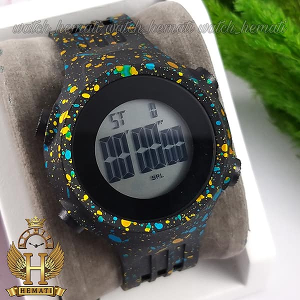 خرید انلاین ساعت اسپرت بنمی BNMI 1803L آبرنگی آبی و زرد