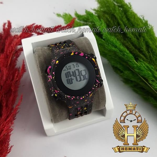 خرید انلاین ساعت اسپرت بنمی BNMI 1803L آبرنگی سرخابی و زرد