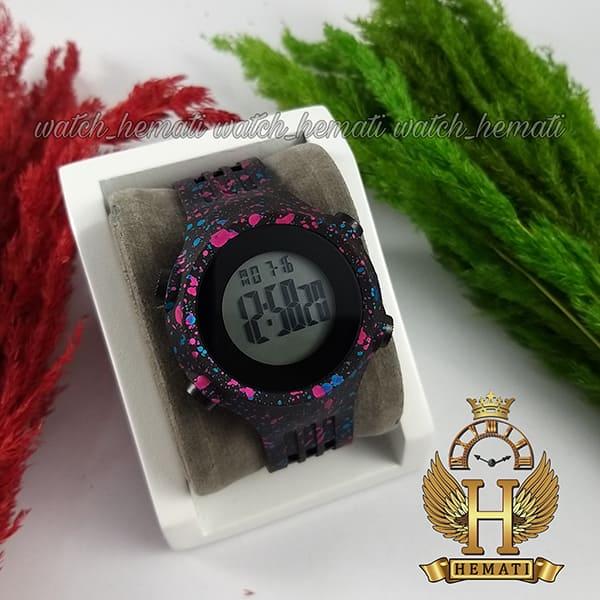 خرید اینترنتی ساعت اسپرت بنمی BNMI 1803L آبرنگی سرخابی و آبی