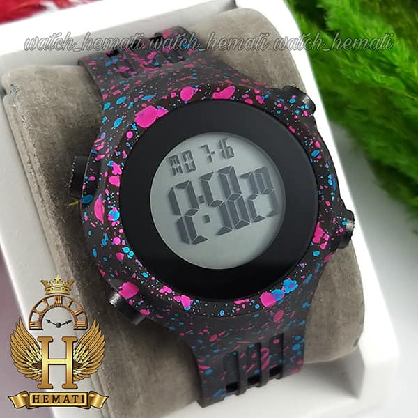 خرید ، قیمت ، مشخصات ساعت اسپرت بنمی BNMI 1803L آبرنگی سرخابی و آبی
