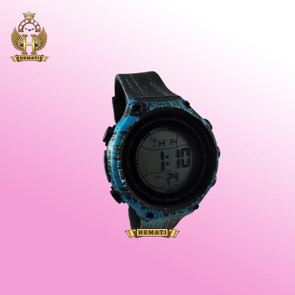 ساعت اسپرت بنمی BNMI 1810L آبرنگی مشکی و آبی کمرنگ