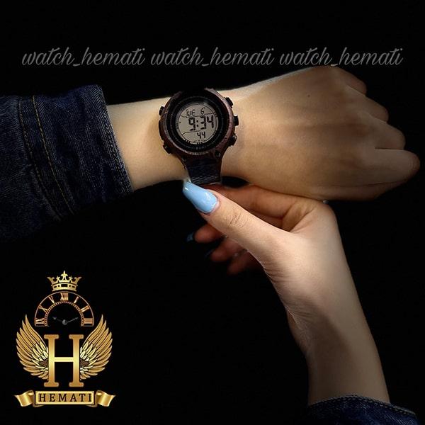 خرید اینترنتی ساعت اسپرت بنمی BNMI 1810L آبرنگی مشکی و بنفش