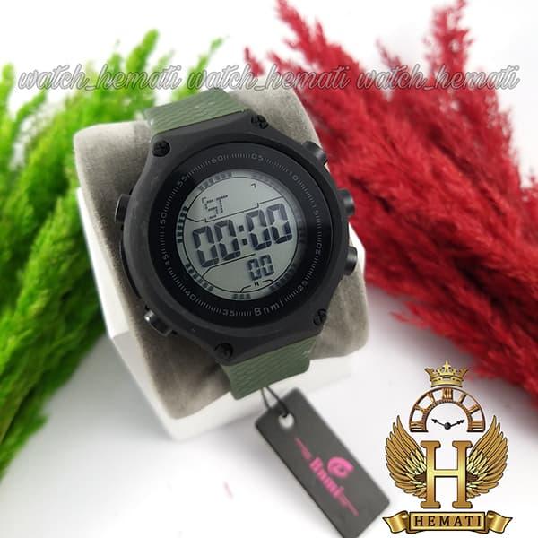 خرید ارزان ساعت اسپرت بنمی BNMI 1810L قاب مشکی و بند سبز