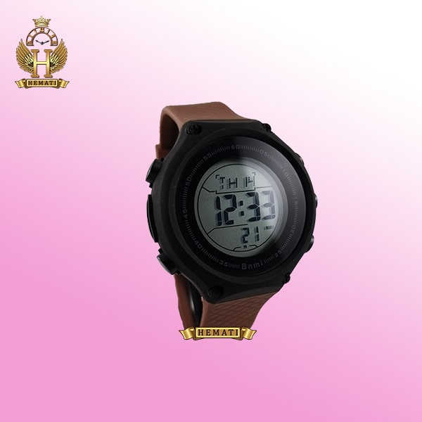 ساعت اسپرت بنمی BNMI 1810L قاب مشکی و بند قهوه ای