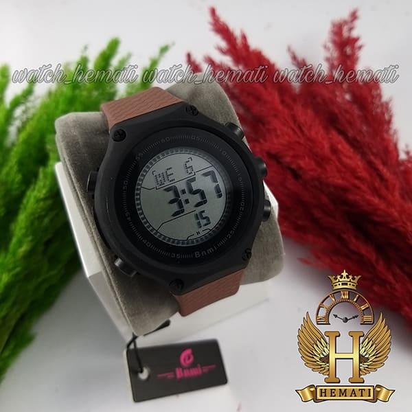 خرید اینترنتی ساعت اسپرت بنمی BNMI 1810L قاب مشکی و بند قهوه ای