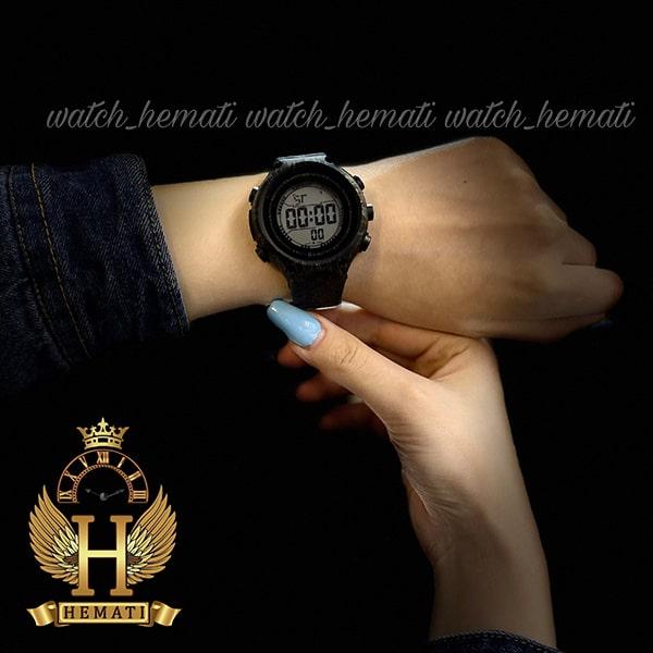 خرید اینترنتی ساعت اسپرت بنمی BNMI 1810L آبرنگی مشکی و نقره ای
