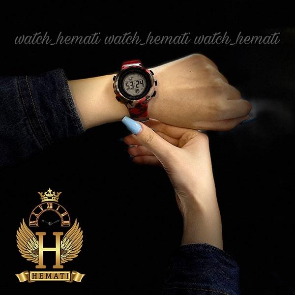 خرید اینترنتی ساعت اسپرت بنمی BNMI 1810L چریکی قرمز