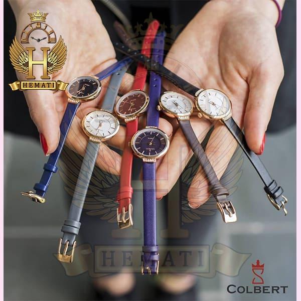 خرید ارزان ساعت مچی دخترانه کلبرت مدل COLBERT 0104L قاب رزگلد طوسی و مشکی