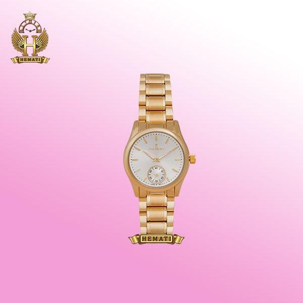 خرید ساعت زنانه اورجینال کلبرت 0137L COLBERT ساده و شیک کلاسیک طلایی