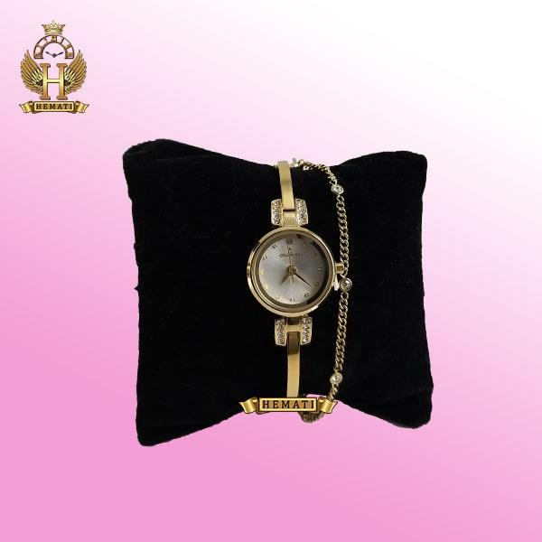 COLBERT 0186L ساعتمچی اورجینال کلبرت زنانه رنگ طلایی مدل دستبندی در رنگبندی صفحه نقره ای همراه جعبه و پاکت شرکتی (1)