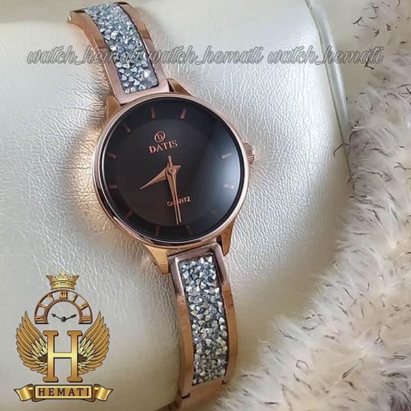 خرید اینترنتی ساعت زنانه داتیس مدل D8341CL رنگ رزگلد شیشه کافی