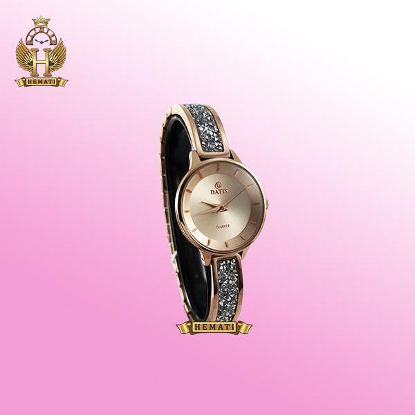 خرید ساعت زنانه DATIS D8341CL ساعتزنانه داتیس اورجینال با نگین سوارفسکی رنگ رزگلد