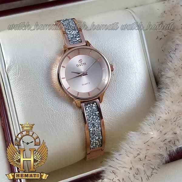 خرید آنلاین ساعت زنانه داتیس رنگ رزگلد مدل d8341cl