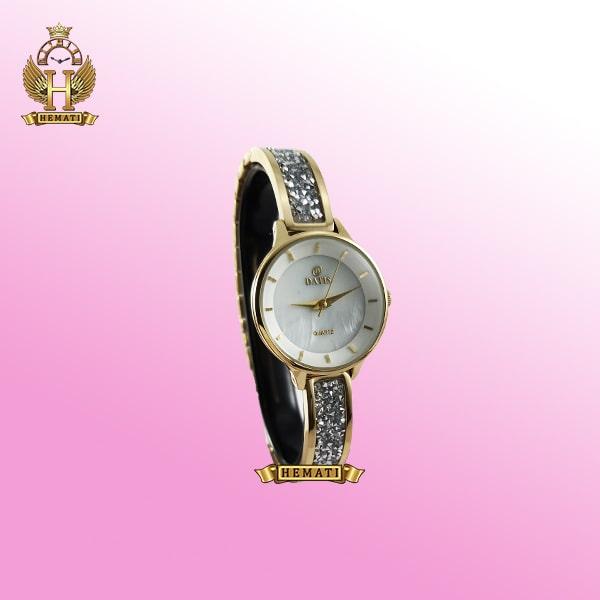 خرید اینترنتی ساعت زنانه داتیس DATIS D8341CL اورجینال با نگین سوارفسکی رنگ طلایی