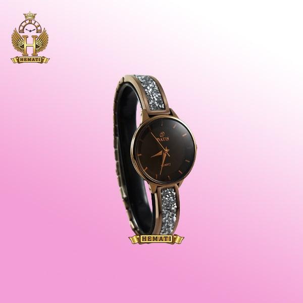 خرید اینترنتی ساعت زنانه داتیس DATIS D8341CL اورجینال با نگین سوارفسکی رنگ کافی