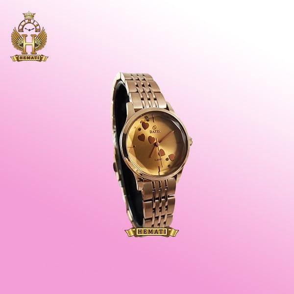 خرید ساعت مچی زنانه داتیس اورجینال مدل DATIS D8420EL رزگلد شیشه کافی