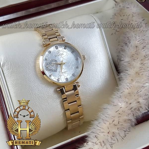 خرید ساعت زنانه داتیس اورجینال مدل DATIS D8463L طلایی شیشه بی رنگ