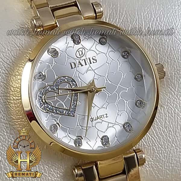 خرید اینترنتی ساعت زنانه داتیس اورجینال مدل DATIS D8463L طلایی شیشه بی رنگ