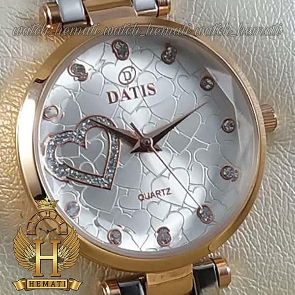 خرید انلاین ساعت زنانه داتیس اورجینال مدل DATIS D8463L نقره ای رزگلد شیشه بی رنگ