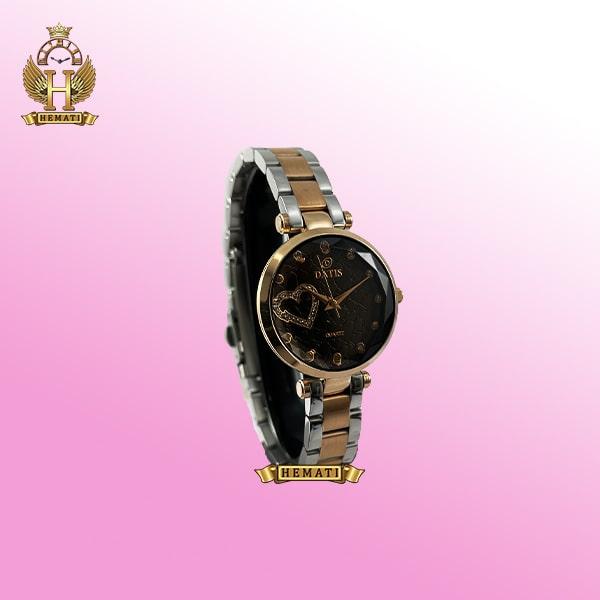 خرید ساعت زنانه داتیس اورجینال مدل DATIS D8463L نقره ای طلایی شیشه بی رنگ