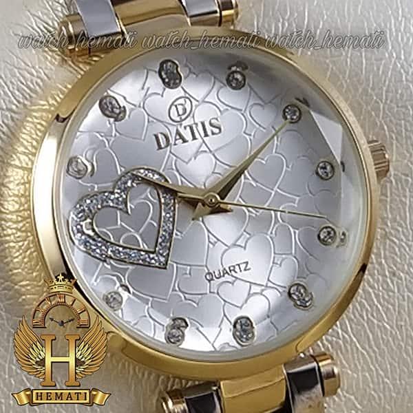 خرید انلاین ساعت زنانه داتیس اورجینال مدل DATIS D8463L نقره ای طلایی شیشه بی رنگ