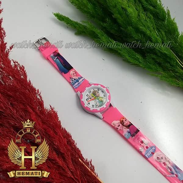 خرید ، قیمت ، مشخصات ساعت دخترانه السا و انا عقربه ای به رنگ صورتی