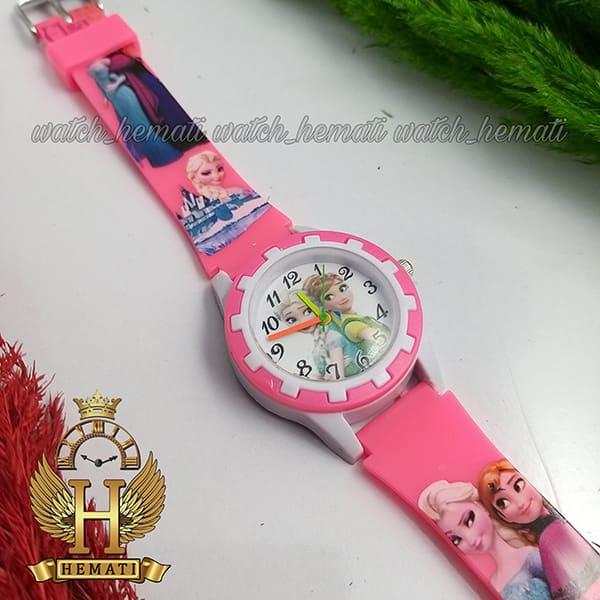 خرید اینترنتی ساعت دخترانه السا و انا عقربه ای به رنگ صورتی