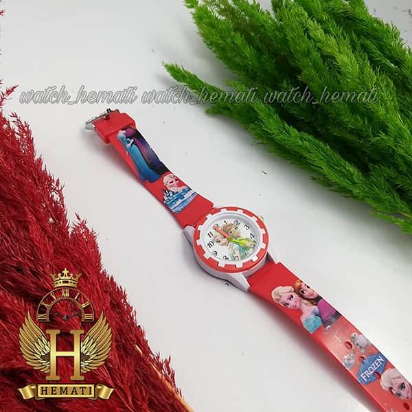 خرید ، قیمت ، مشخصات ساعت دخترانه السا و انا عقربه ای به رنگ قرمز