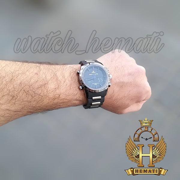 ساعت مردانه دو زمانه اچ پلو HPOLW fsk1519 مشکی_آبی