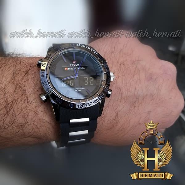 خرید ساعت مردانه دو زمانه اچ پلو HPOLW fsk1519 مشکی_آبی