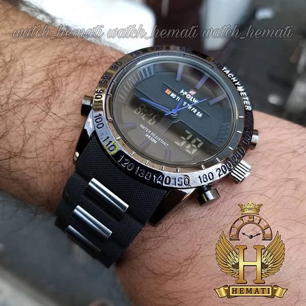 خرید اینترنتی ساعت مردانه دو زمانه اچ پلو HPOLW fsk1519 مشکی_آبی