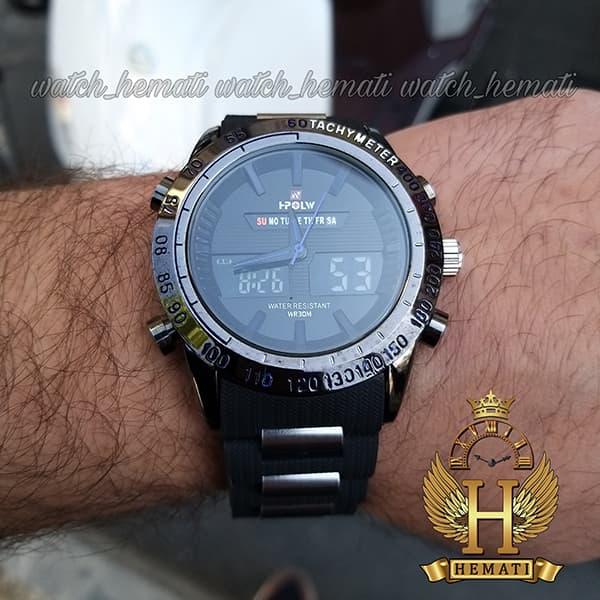 خرید انلاین ساعت مردانه دو زمانه اچ پلو HPOLW fsk1519 مشکی_آبی