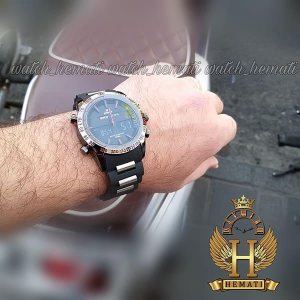 خرید اینترنتی ساعت مردانه دو زمانه اچ پلو HPOLW fsk1519 مشکی_قرمز