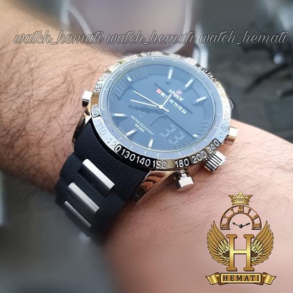 خرید انلاین ساعت مردانه دو زمانه اچ پلو HPOLW fsk1519 مشکی_نقره ای