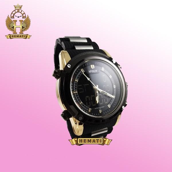 ساعت مردانه دو زمانه اچ پلو HPOLW fsk1801 مشکی طلایی