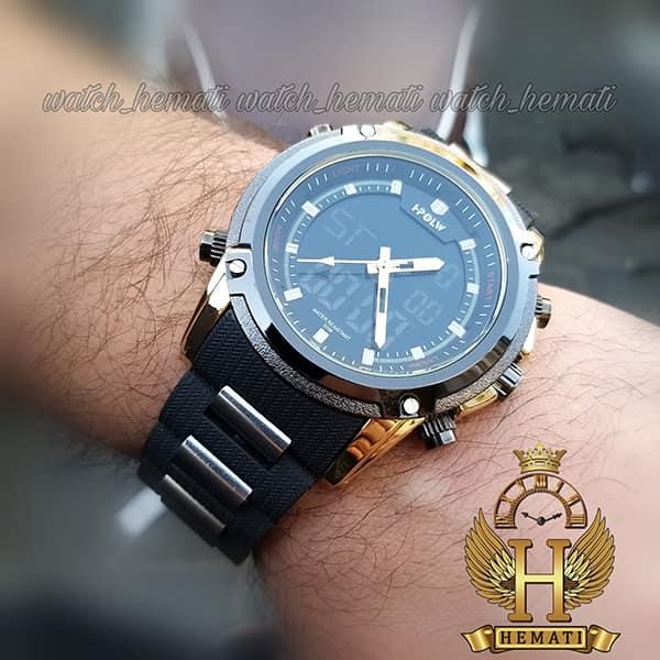 خرید ساعت مردانه دو زمانه اچ پلو HPOLW fsk1801 مشکی طلایی