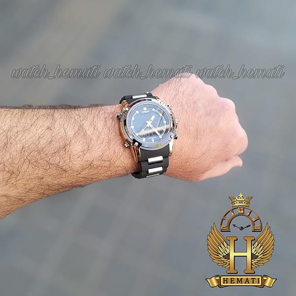 خرید اینترنتی ساعت مردانه دو زمانه اچ پلو HPOLW fsk1801 مشکی طلایی