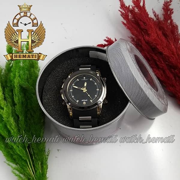 خرید انلاین ساعت مردانه دو زمانه اچ پلو HPOLW fsk1801 مشکی طلایی