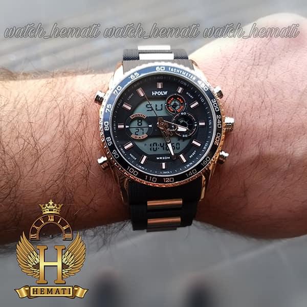 خرید ساعت مردانه دو زمانه اچ پلو HPOLW H9905 مشکی_رزگلد