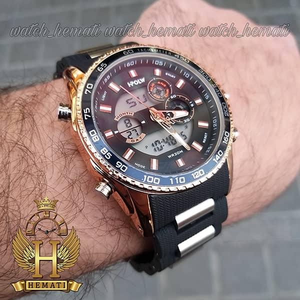قیمت ساعت مردانه دو زمانه اچ پلو HPOLW H9905 مشکی_رزگلد