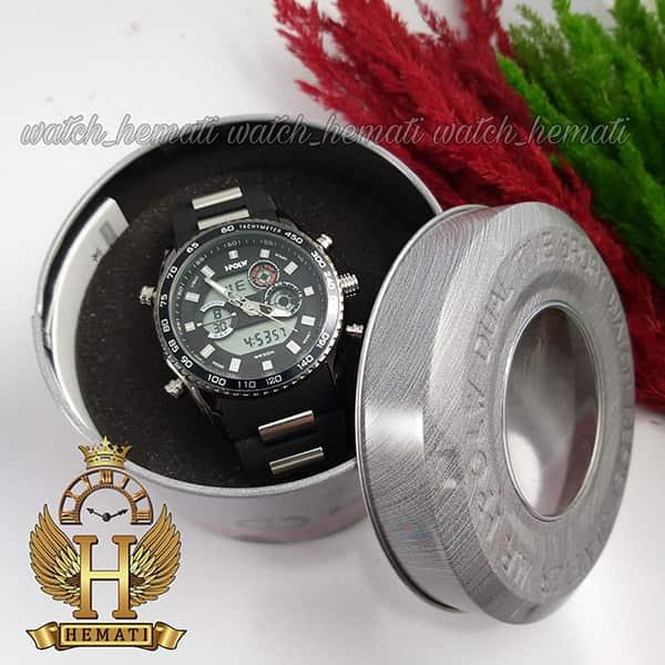 خرید اینترنتی ساعت مردانه دو زمانه اچ پلو HPOLW H9905 مشکی_نقره ای